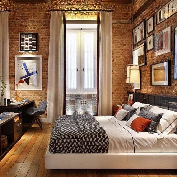 40 Stunning Spaces With Exposed Brick (PHOTOS). Studio ApartmentsLuxury  ApartmentsSmall ...