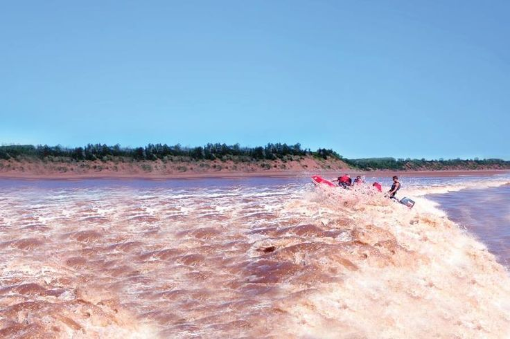 Bay of Fundy bore tide rafting