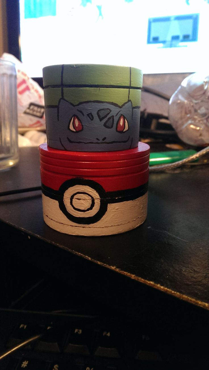 Custom Painted Pokemon Grinder by imPROPerDress on Etsy https://www.etsy.com/listing/217397093/custom-painted-pokemon-grinder