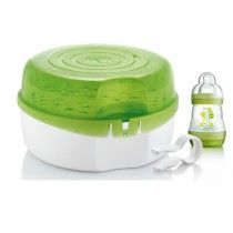Discover The Mam Microwave Steam Steriliser Safely Sterilise 6 Bottles In 5 Minutes Suitable For And Cold Water Sterilisation