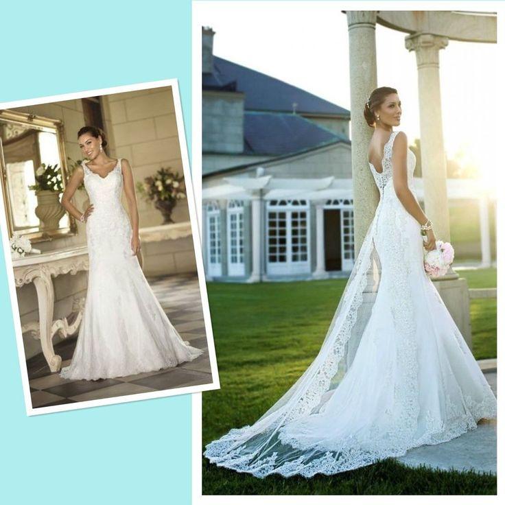 2015 White/Ivory Wedding Dress Lace Bridal Gown Custom Size 4-6-8-10-12-14-16-18