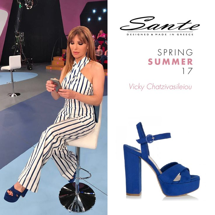 Vicky Chatzivasileiou (@vikychatz) in SANTE Sandals styling by Chrysanthi Thomatos (@chrysanthithomatos9) #SanteSS17 #CelebritiesinSante Available in stores & online (SKU-95901): www.santeshoes.com