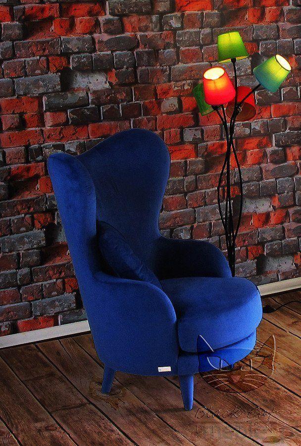 Frou Frou stylizowany fotel z wysokim oparciem, Black Cat Design - Meble