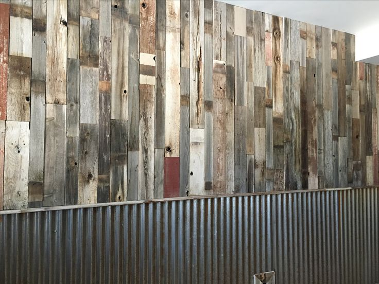 More of our reclaimed lumber, this time at an archery shop! We love the coloring and texture of this product.