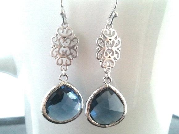 Oriental Montana Silver Earrings by LaLaCrystal on Etsy, $25.50