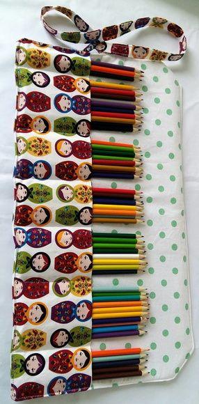 Estojo de rolo / Porta lápis