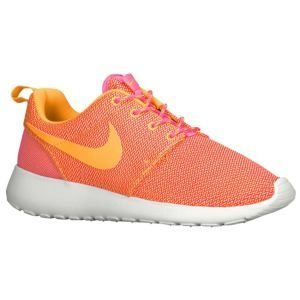 Nike Roshe Run - Women\u0026#39;s - Pink Glow/Summit White/Volt/Atomic Mango