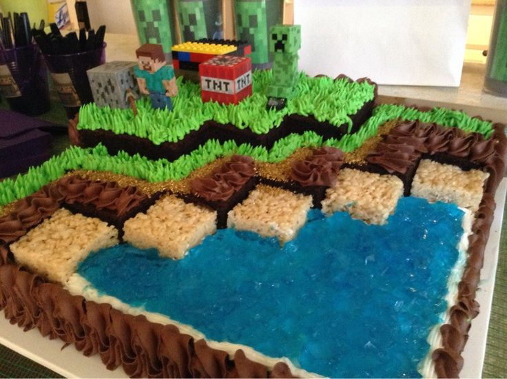 Minecraft Huge Birthday Cake | ... girl's Minecraft birthday party. Here is her cake. ( i.imgur.com