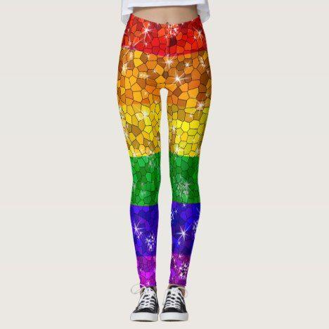 Glitter Rainbow Flag Marriage Equality Gay Pride Leggings  rainbow   leggings  women 53a10c108a