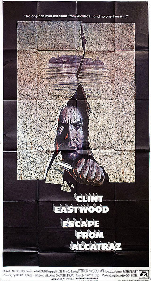 Escape From Alcatraz 1979 U S Three Sheet Poster Posteritati
