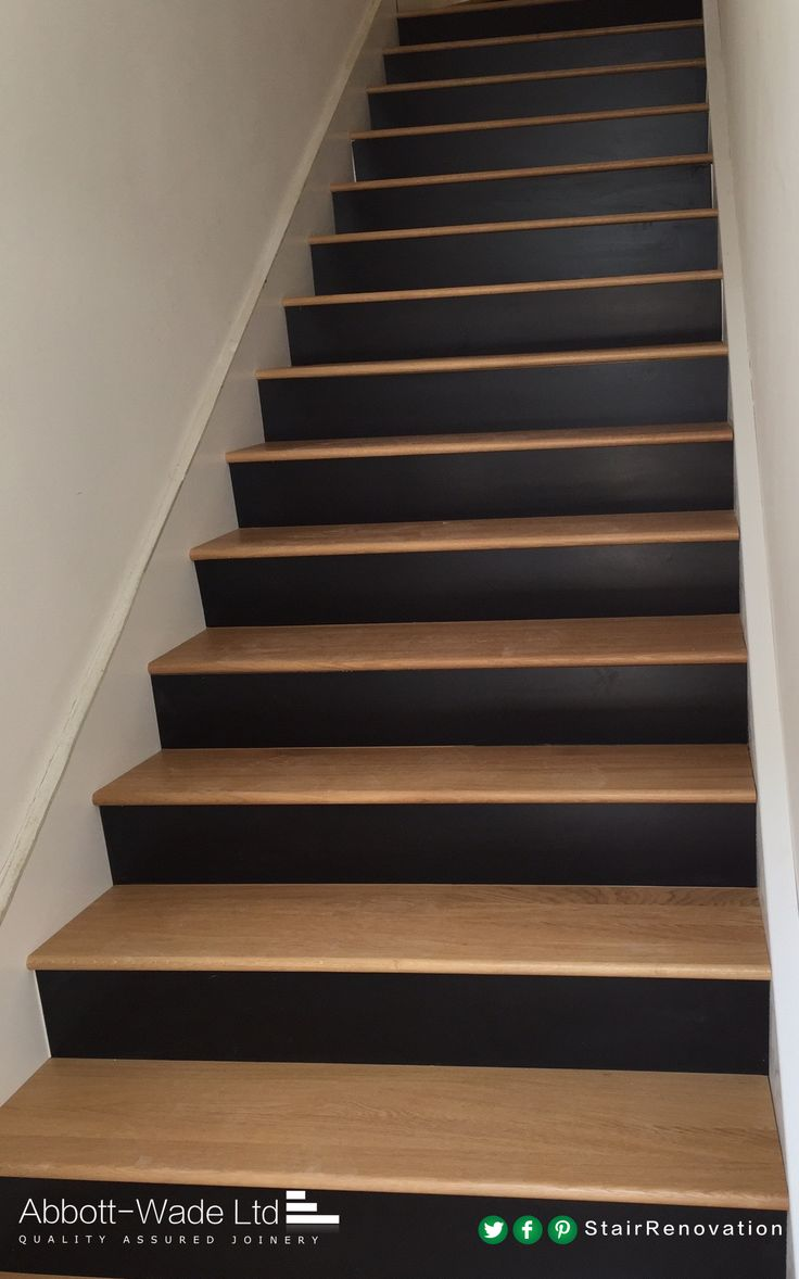 Oak Treads With Black Risers Are A Uniquely Stylish