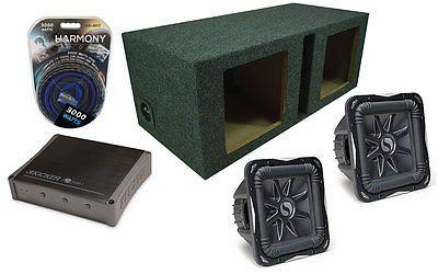 Kicker Car Audio Ix1000.1 Amplifier & Dual 10 Vented Subwoofer Box Pair S10L7