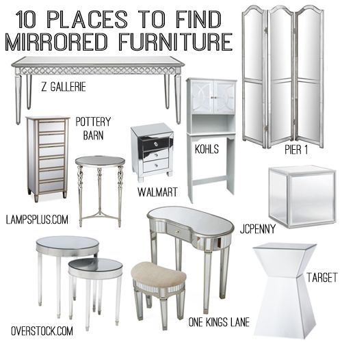 10 sources for mirrored furniture. The 25  best Mirrored furniture ideas on Pinterest   Mirror