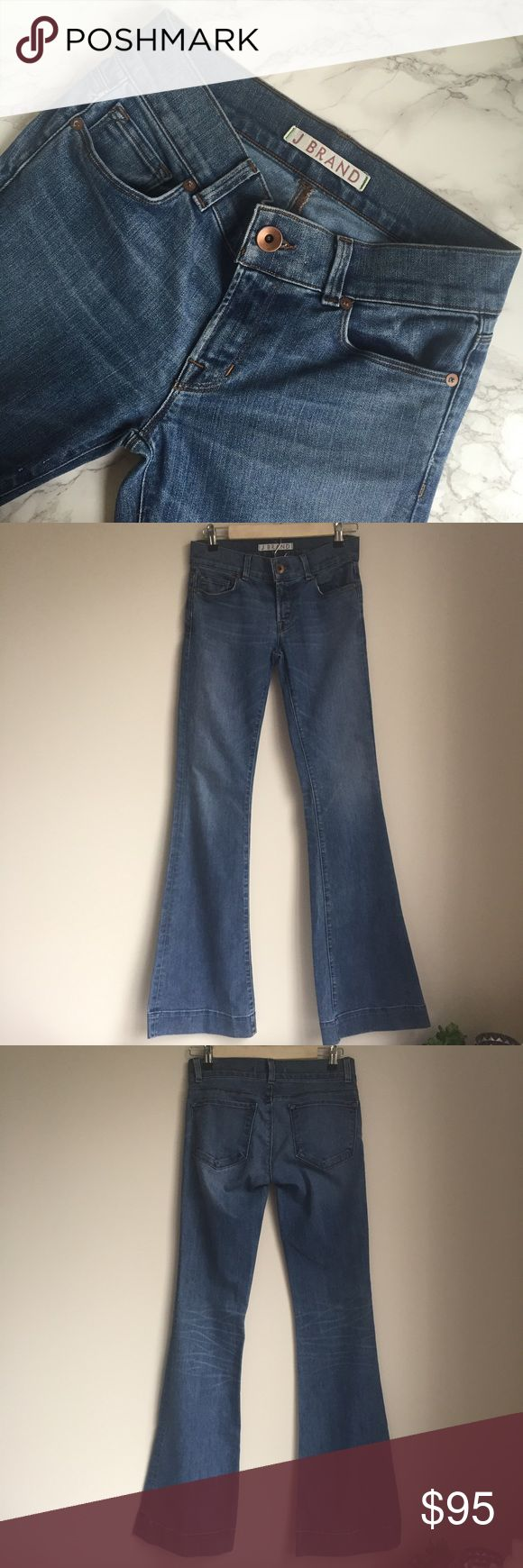 J BRAND Lovestory Flare Jeans Excellent condition. Inseam is approximately 35 inches and rise is about 7 inches. J Brand Jeans Flare & Wide Leg