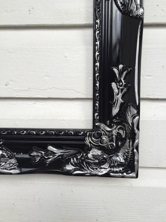 Baroque Frame Custom Black Silver Wedding Photo by HallstromHome
