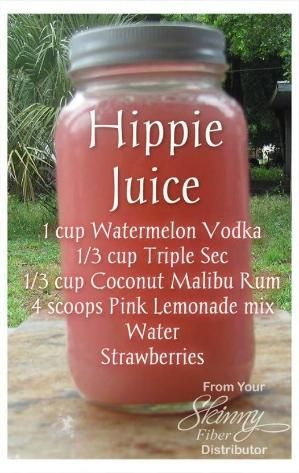 Hippie Juice - adult beverage recipe. Alcohol. Vodka, malibu rum, pink lemonade click the image for the recipe by kristie