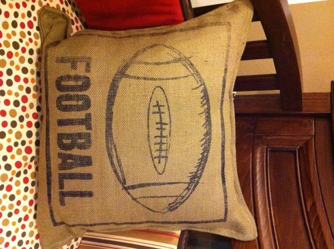 Twelve Timbers Football Pillow-twelve timbers, pillows, nursery design, pillow, football, sports, brown