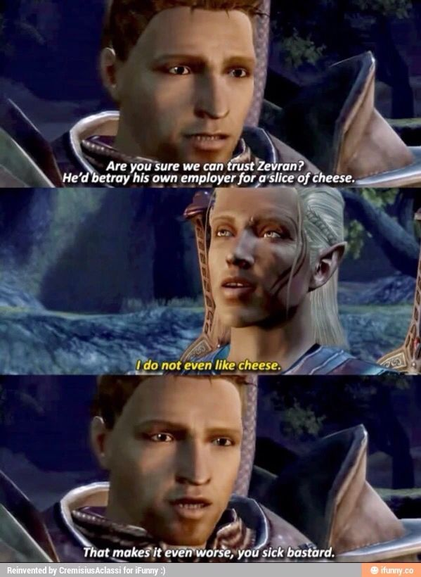 XD I can't stop laughing! Alistair & Zevran get along sooooo well XD