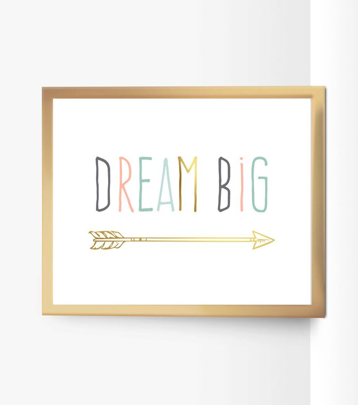 Printable Dream Big Nursery Quote Decor Arrow Peach Mint Gold Pink Gray Art Pastel Coral Seafoam Green Decor Gold Home Decor Kids Room Print by PinkTranquilitie on Etsy https://www.etsy.com/listing/237844492/printable-dream-big-nursery-quote-decor