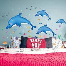 Dolphins On The Wall Idea For Boys Room Walldecals.ie