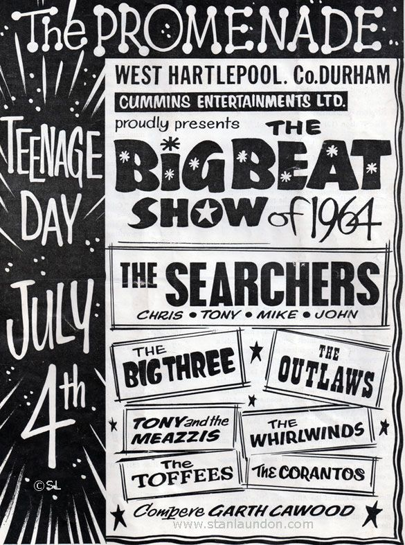 The Searchers, 1964 and a bunch of English Beat bands that didn't make it across the pond during the British Invasion.