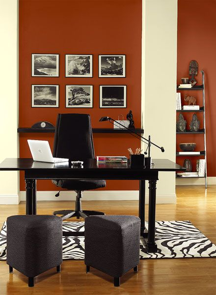 paint color ideas for office. benjamin mooreu0027s paint colors red home office ideas vibrant color for