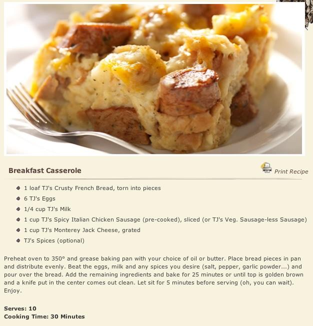 Trader Joe's Breakfast Casserole: Breakfast Casserole