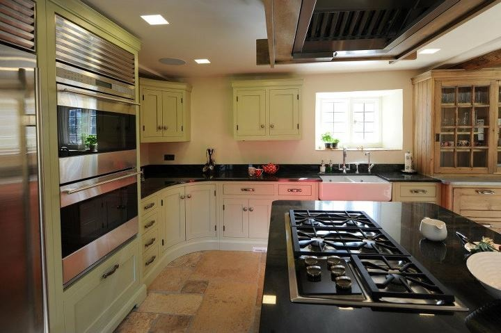 Kitchen painted in Farrow & Ball paint, featuring Sub-Zero and Wolf appliances.