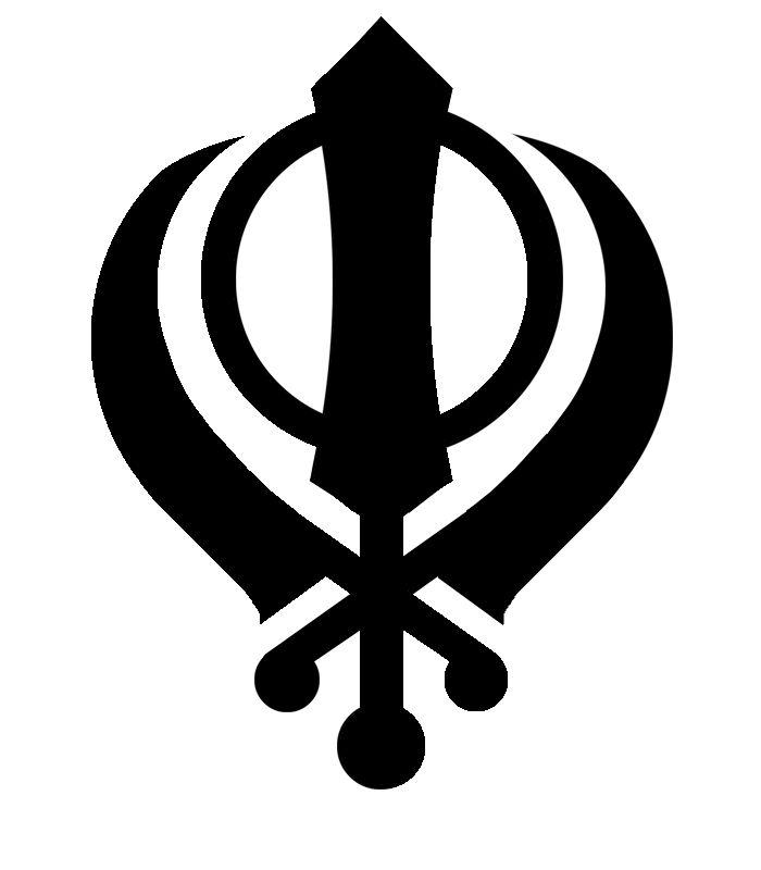 Φ , símbolo del sijismo, religión.