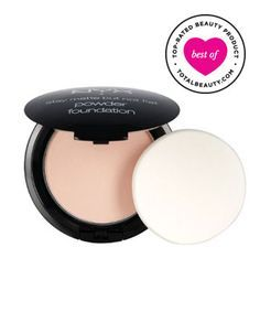 Best Drugstore Powder Foundation No. 4: NYX Cosmetics Stay Matte But Not Flat Powder Foundation, $9.50