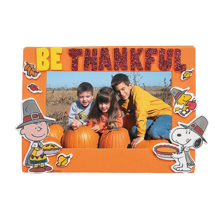 Peanuts® Thanksgiving Picture Frame Magnet Craft Kit - OrientalTrading.com