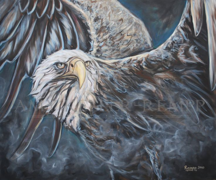 "Amy Keller-Rempp Art. ""Watchful Eyes"", 30"" by 36"", acrylic on canvas. Original sold, available in giclee prints and fine art cards."