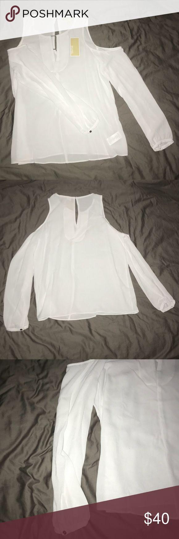 Michael Kors Women's Basics Shirt Size M NWT NWT Size M White 97% Polyester/3% Elastane Michael Kors Tops Blouses