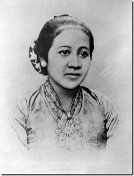Raden Ayu Kartini, Javanese and Indonesian herione pioneer in the area o women's rights for native Indonesian