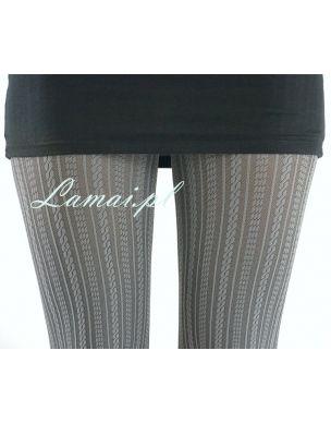 http://www.lamai.pl/12-rajstopy Szare rajstopy we wzory MARILYN Diana A19 w paski - Sklep Lamai.pl