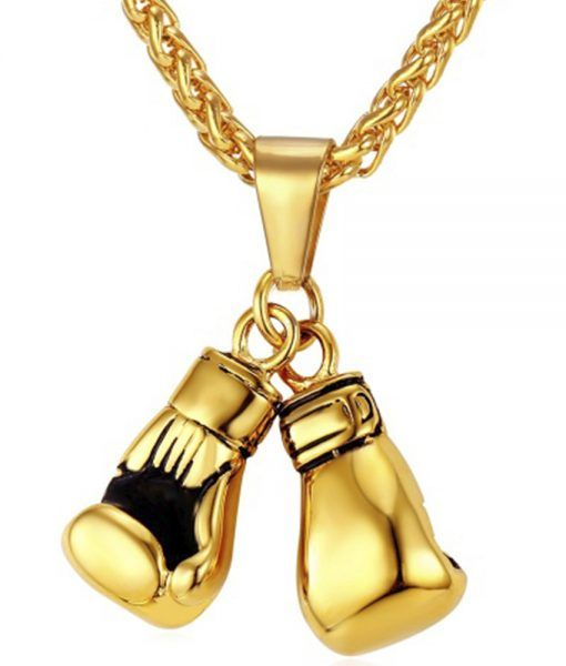 Check out our Boxing Gloves Necklace 18K Gold Plated Men's Pendant!