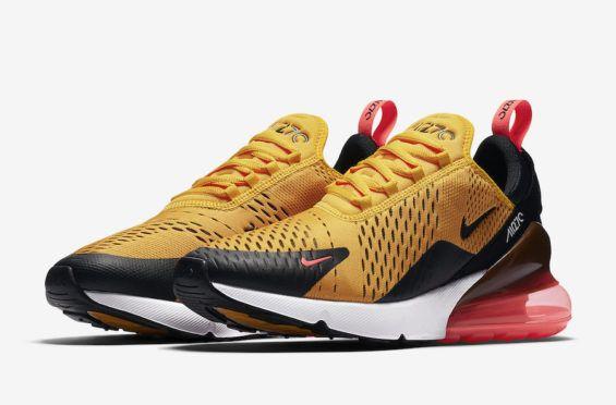 """Nike Air Max 270 """"Tiger"""" BlackOrange Blaze Varsity Red For"""