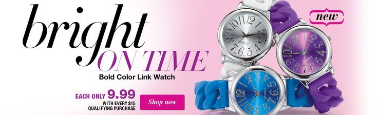Bold Color Link Watch - only $9.99 with every $15.00 purchase