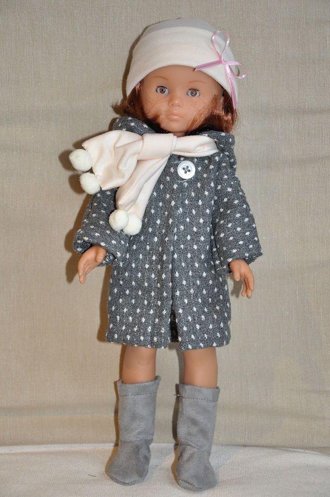 Manteau et bottes pour poupée 33 cm compatible Chéries Corolle