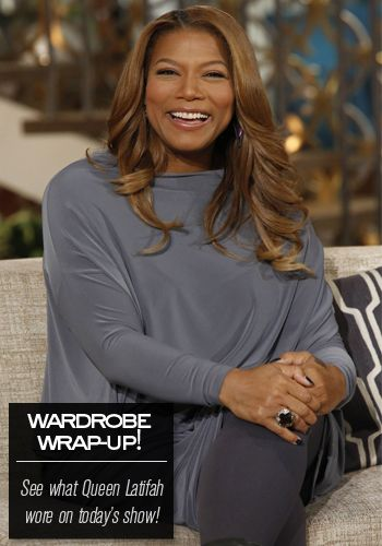 Check out this all gray look from Queen Latifah // Queen Latifah's Wardrobe Wrap-up 11.12.13