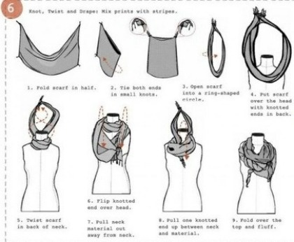 6 ways to tie your scarves