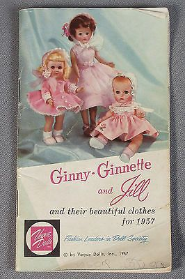 1957 Vogue Dolls 36 Page Catalog Ginny Ginnette Jill - Their Beautiful Clothes