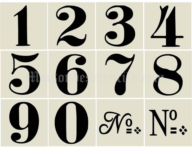 17 best ideas about number stencils on pinterest number template printable number fonts and