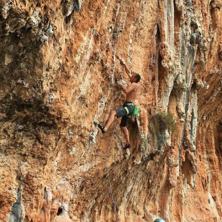 Climbing  In Leonidio, Greece