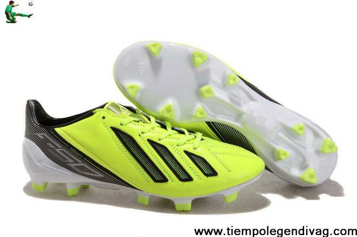 New adidas F50 adizero miCoach Leather FG - Green Black Soccer Boots For Sale