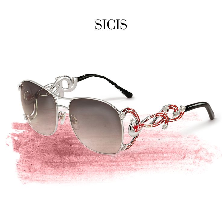 Don't be afraid of the sun, but protect your eyes with our beatiful and unique sunglasses in Micro Mosaic, Gold and Diamonds