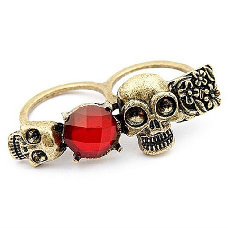 HOT! Fashion New!unique skeleton ring ! Rings Jewelry wholesales!! Free shipping crystal jewelry