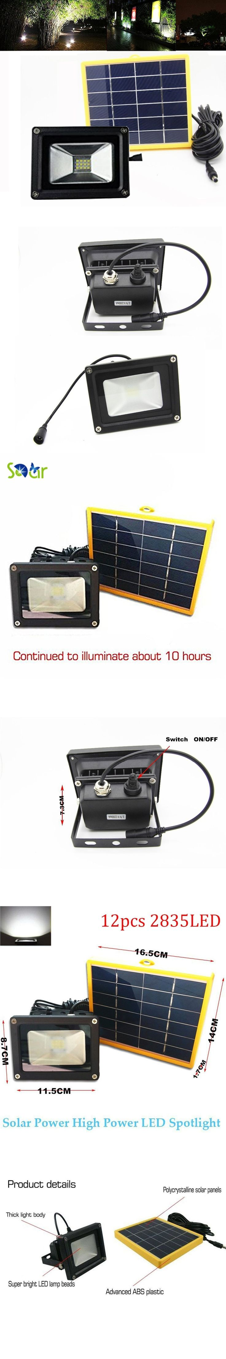 Waterproof 10W Solar powered LED Flood light with 5M wire+2200mA battery use in outdoor wall lamp outdoor led spot lighting