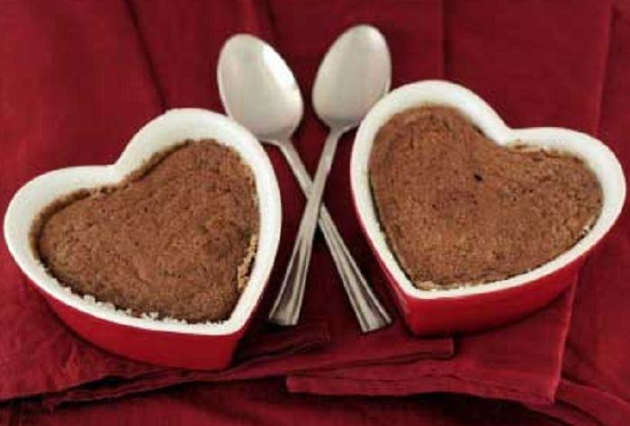 Ατομικό σουφλέ σοκολάτας σε 3 λεπτά