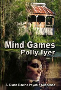 """99cents/FREE Paranormal Suspense in """"Mind Games"""" by Polly Iyer   Mind Gamesby Polly Iyer $3.99-99cents Sept 30-Oct 4, 2014 OR Get it FREEwith Kindle Unlimited! #1 in theDiana Racine Mystery seriesDuring a New Orleans Mardi Gras Ball, psychic entertainer Diana Racine touches the hand of a masked Cyrano de Bergerac and is instantly transported into the icy-cold body of a dead woman submerged in water. As Diana crumples to the floor, water filling her lungs, she hea"""